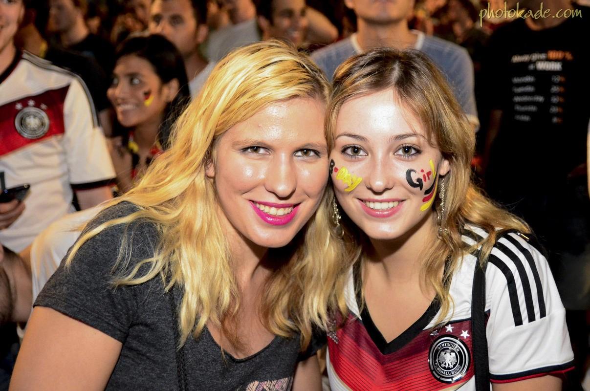 عکس جام جهانی 2014,عکس تماشاگران دختر آلمانی 2014
