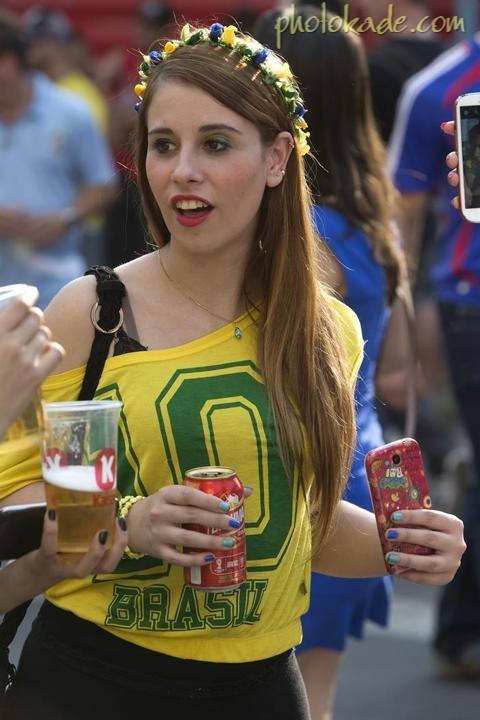 عکس جام جهانی 2014,عکس تماشاگران برزیلی 2014