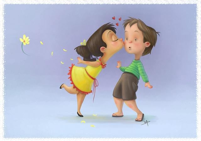 بوسه عاشقانه فانتزی دختر و پسر,عکس فانتزی ماچ دختر و پسر
