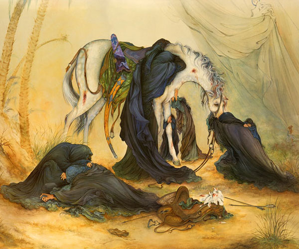 تابلو نقاشی عصر عاشورا به قلم استاد فرشچیان
