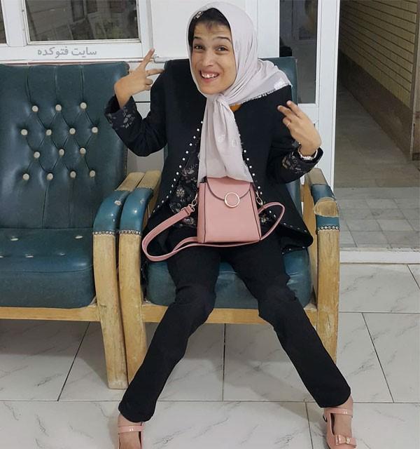 عکس و بیوگرافی فاطمه حمامی نقاش معلول
