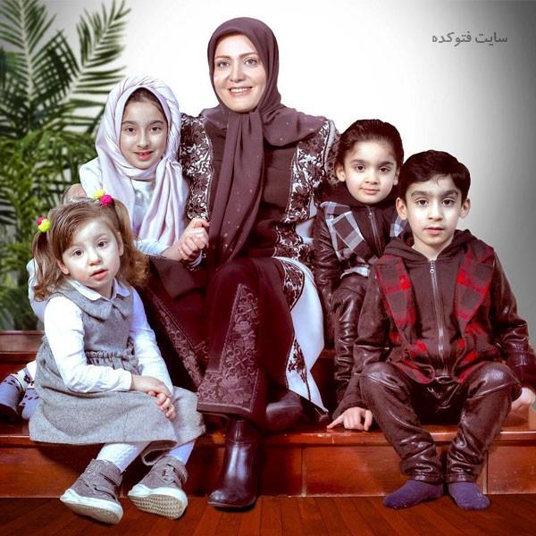 عکس فاطمه دانشور و فرزندانش + بیوگرافی کامل