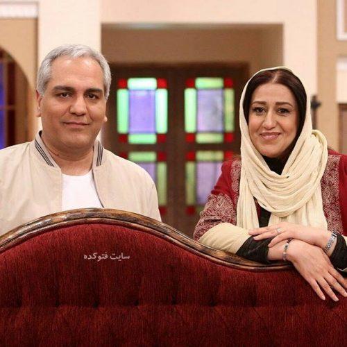 عکس فاطمه هاشمی در کنار مهران مدیری دورهمی + بیوگرافی