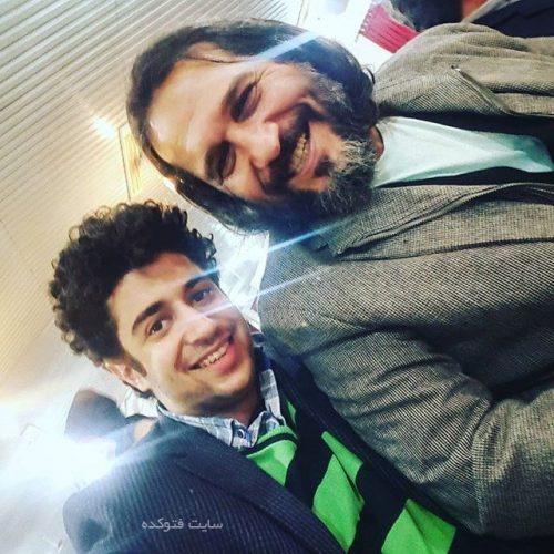 عکس فردوس حاجیبان و پسرش سجاد