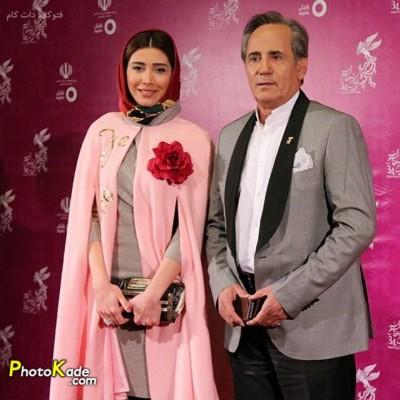 عکس مجیدی مظفری و دخترش نیکی جشنوار فیلم فجر 94