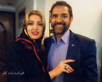 عکس فیروز کریمی و همسر دومش شیمن
