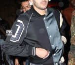 Rihanna and French soccer player Karim Benzema seen leaving the Griffin night club in New York City, New York. The pair later headed to a 24-hour diner at 5am.  Pictured: Karim Benzema Ref: SPL1043169  020615   Picture by: We Dem Boyz / Splash News  Splash News and Pictures Los Angeles:310-821-2666 New York:212-619-2666 London:870-934-2666 photodesk@splashnews.com