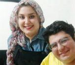 احسان مهدی و همسرش
