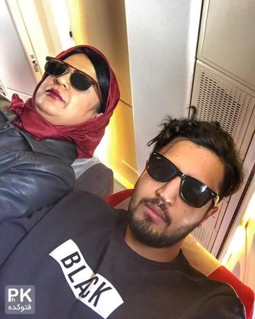 عکس مهرداد صدیقیان و مادرش