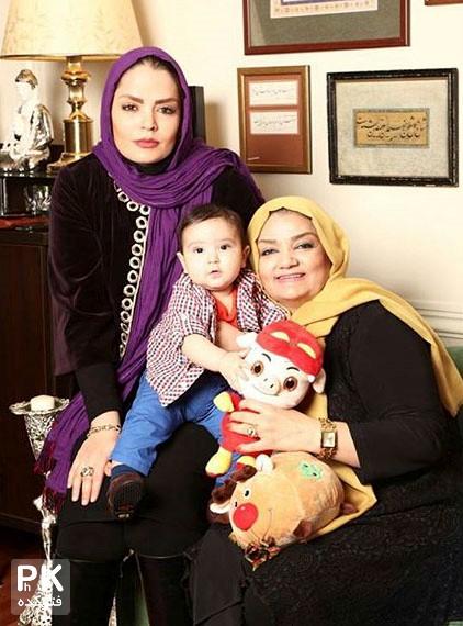 عکس سپیده خداوردی به همراه مادر و پسرش