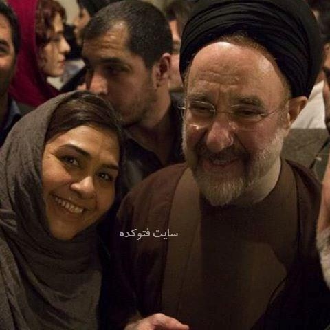 عکس فروغ قجابگلی در کنار سید محمد خاتمی