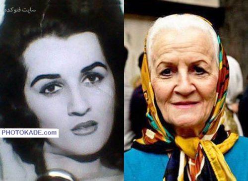 عکس ملکه رنجبر قبل و بعد از انقلاب