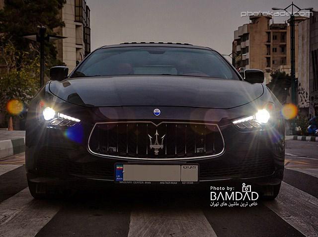عکس جدید ماشین مازراتی گیبیل در ایران