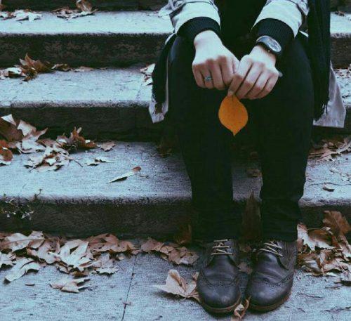 عکس غمگین پاییزی