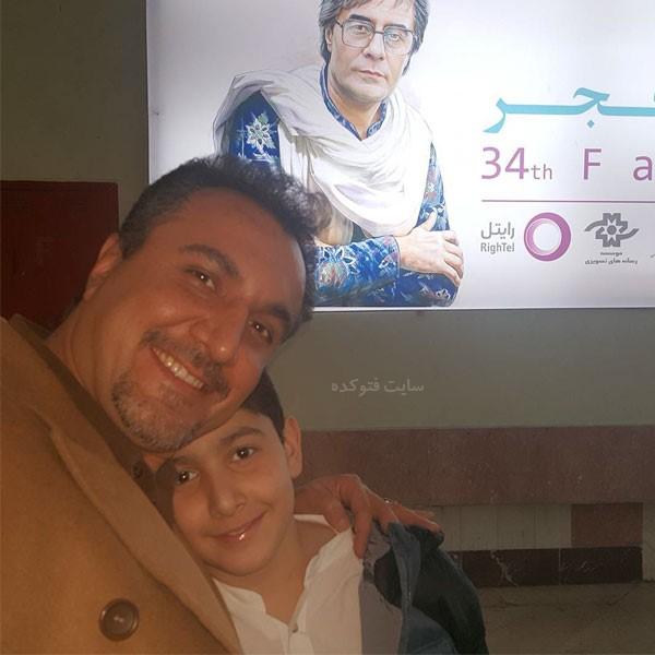 با پسرش در جشنواره فجر