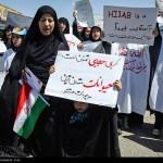 عکس دختران در تظاهران روز قدس