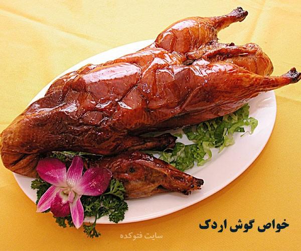 فواید و مضرات گوشت اردک
