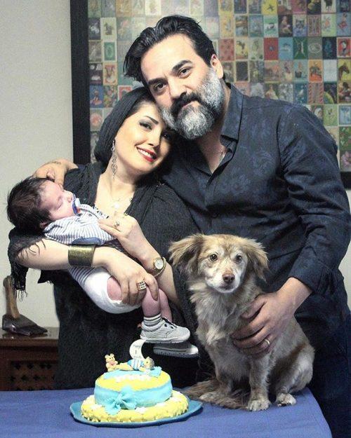 عکس یغما گلرویی و همسرش آتنا حبیبی و پسرش یارا