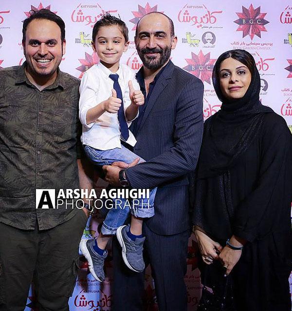 عکس خانوادگی هادی حجازی فر با همسرش