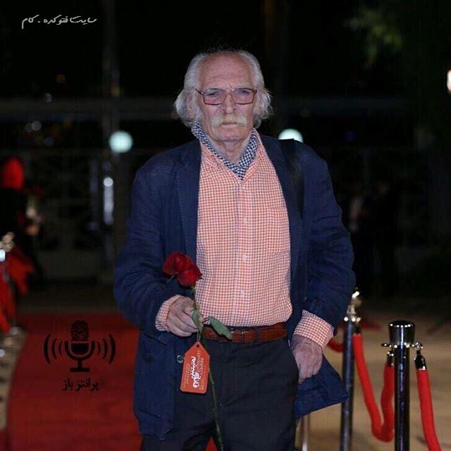 عکس محمود دولت آبادی در جشنواره حافظ 95