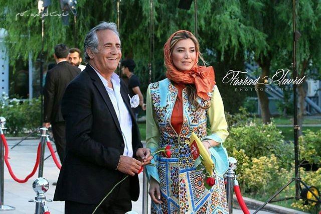 عکس مجید مظفری و دخترش نیکی در جشنواره حافظ 95