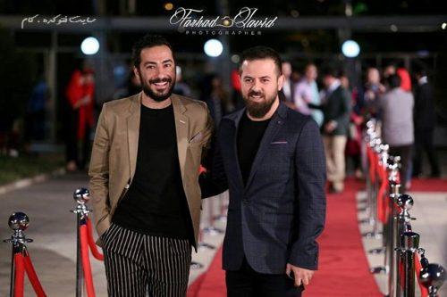 عکس هومن سیدی و نوید محمدزاده در جشنواره حافظ 95