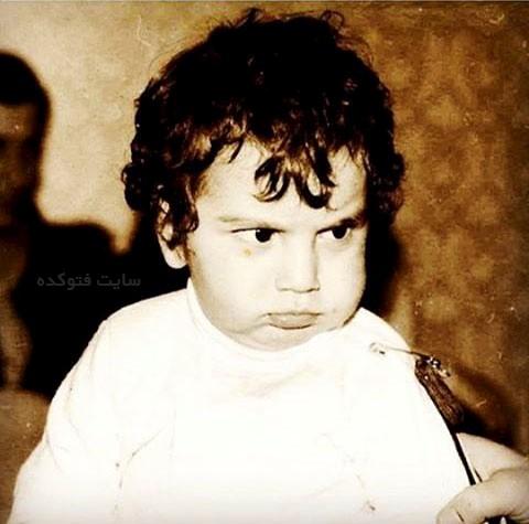 عکس کودکی حافظ ناظری