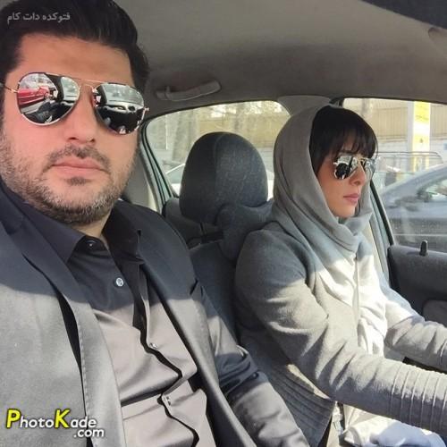 عکس سام درخشانی و همسرش عسل امیر پور