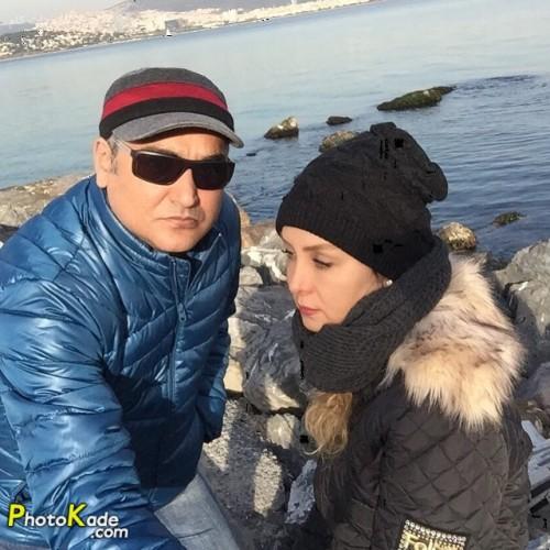 عکس حدیث فولادوند و همسرش رامبد شکرابی