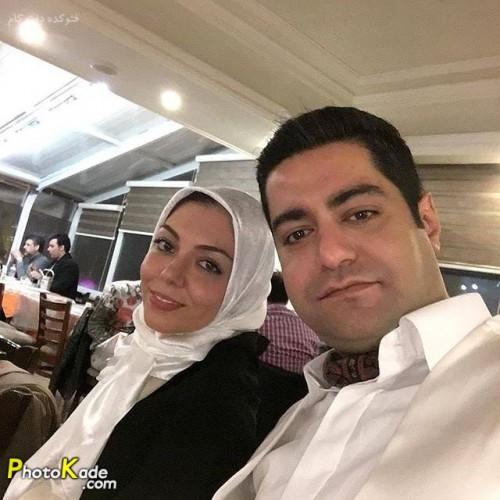 عکس آزاده حسنی و همسرش سجاد عبادی