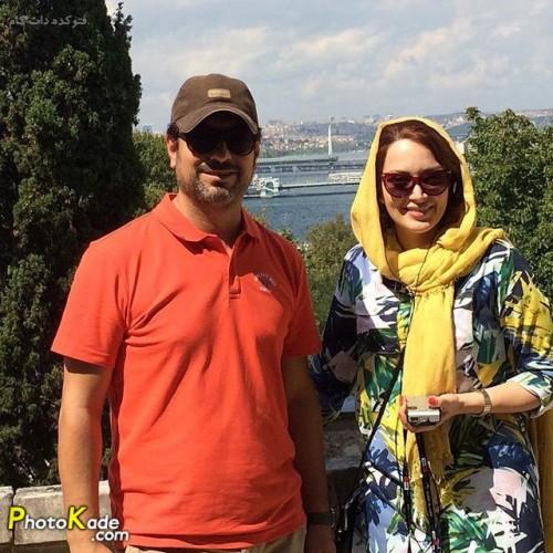 عکس مهدی پاکدل و همسرش بهنوش طباطبایی