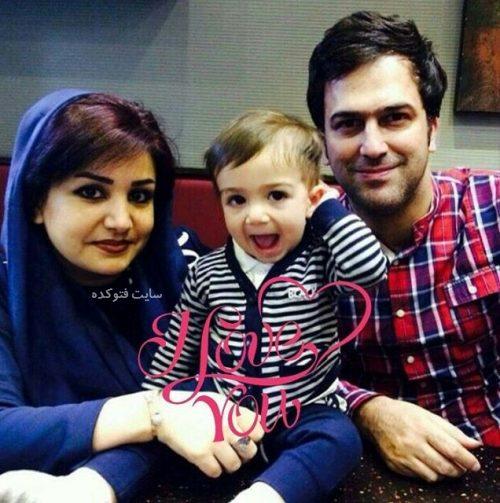 عکس خانوادگی حامد آهنگی و پسرش آراد