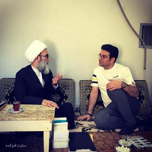 عکس حامد عسکری در کنار شیخ انصاری