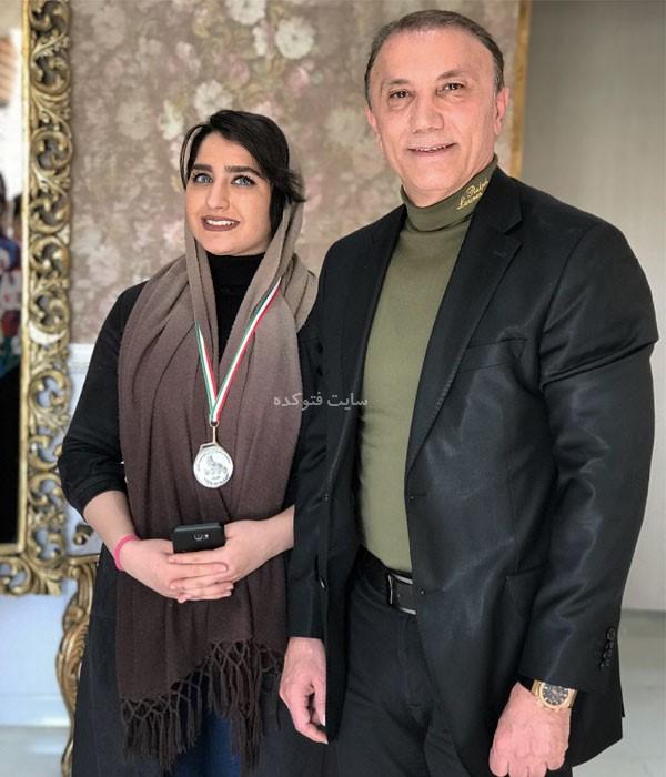 عکس های حمید درخشان بازیکن فوتبال + ورزشکار زن