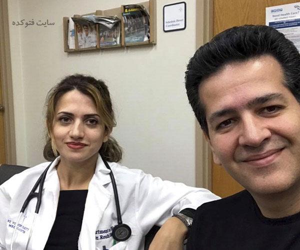 عکس حمید طالب زاده و همسرش ندا روحی + بیوگرافی