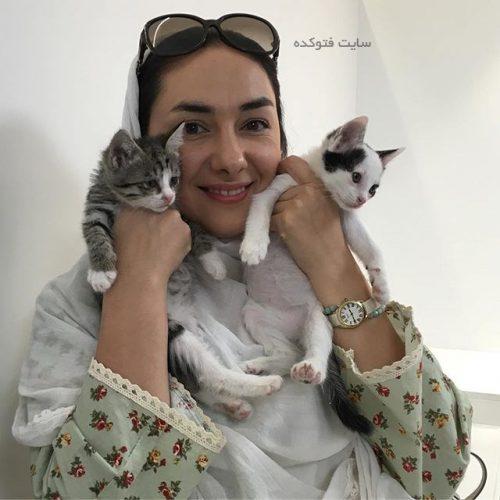 هانیه توسلی و گربه