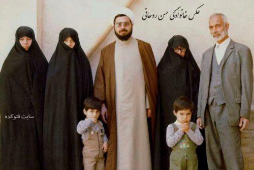عکس خانوادگی حسن روحانی + فرزندان و دختر خارجی اش + بیوگرافی کامل