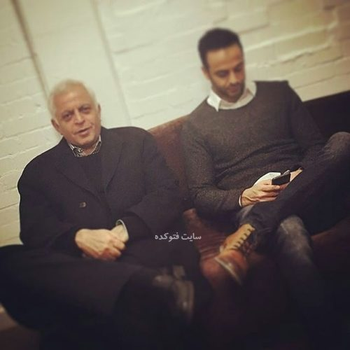 عکس رها اعتمادی در کنار پدرش حسن اعتمادی