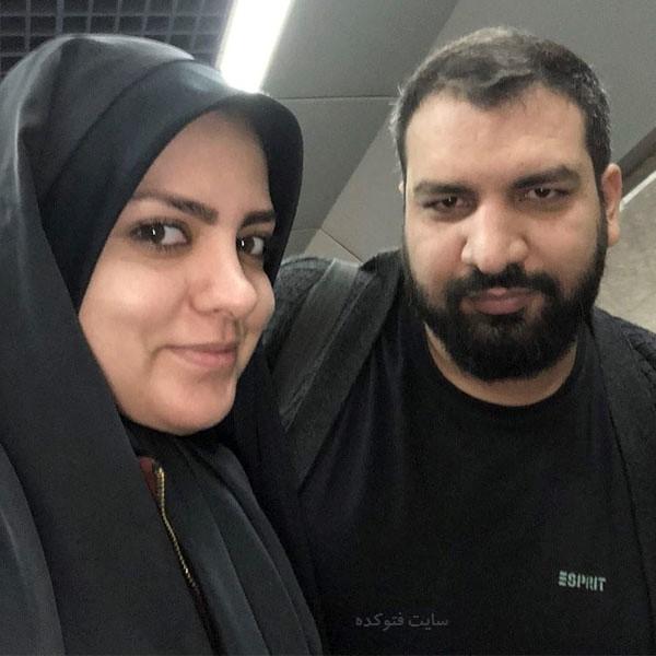 عکس همسر هاشم بافقی الهه چرندآبی + بیوگرافی