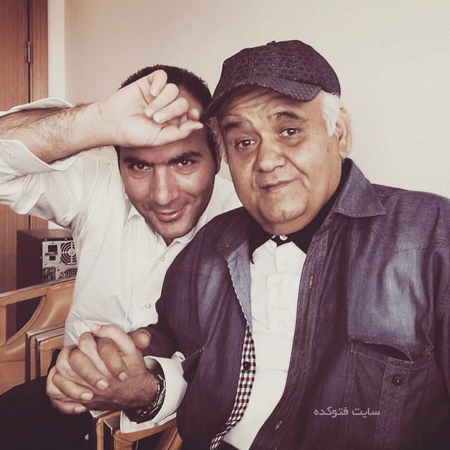 عکس حسن ریوندی و اکبر عبدی