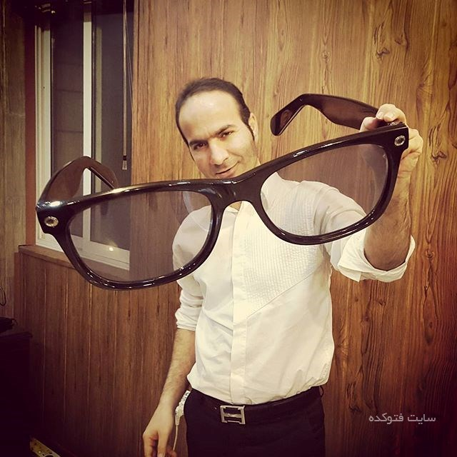 عینک غول پیکیر حسن ریوندی کمدین مشهور
