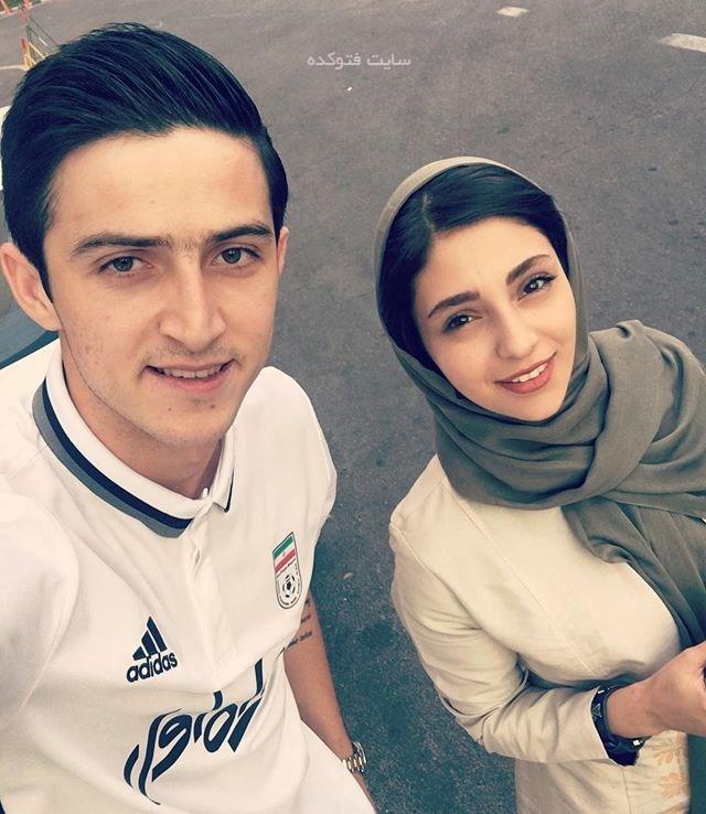 عکس هستی مهدوی فر با سردار آزمون + بیوگرافی و ازدواج