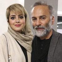 حمیدرضا آذرنگ و همسرش ساناز بيان با بیوگرافی