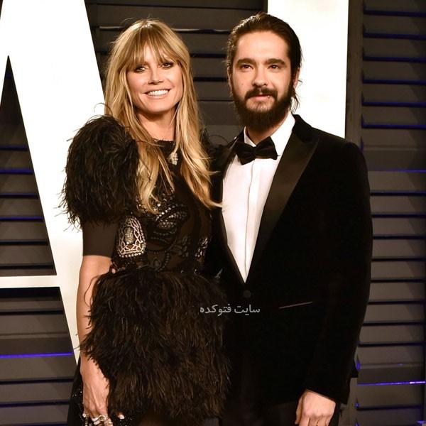 عکس های هایدی کلوم و همسر جدیدش Tom Kaulitz