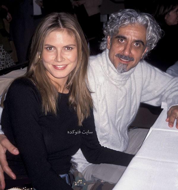 عکس هایدی کلوم و همسر اول