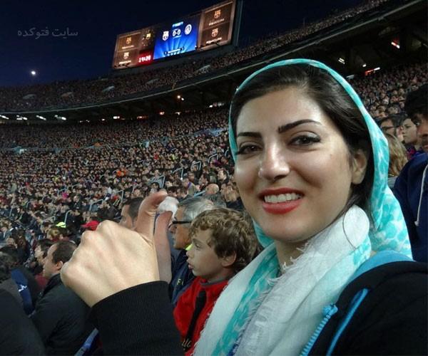 عکس هلیا امامی در استادیوم بارسلونا نیو کمپ