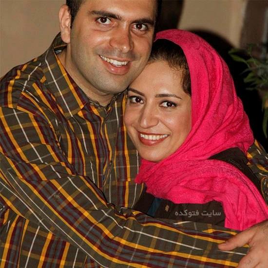 ساناز سماواتی بغل همسرش هومن حسین نژاد