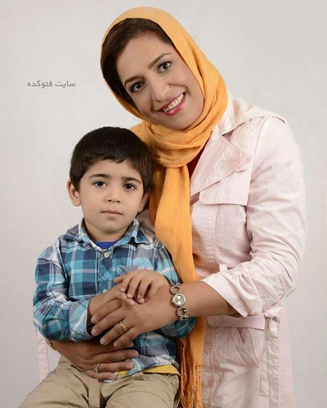 عکس ساناز سماواتی و پسرش برسام