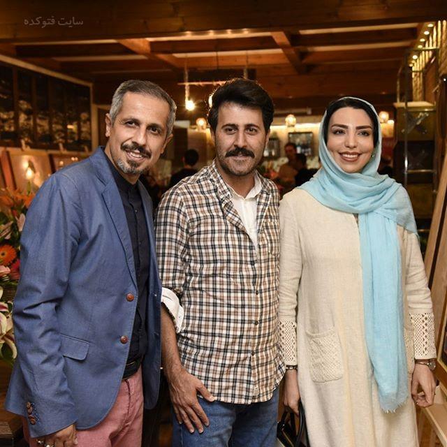 هومن حاجی عبداللهی و همسرش کنار جواد رضویان