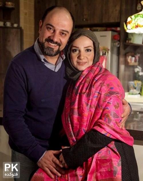 عکس جدید برزو ارجمند و همسرش پارمیس زند